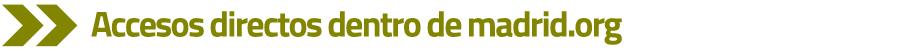 verde accesos directos dentro de madrid