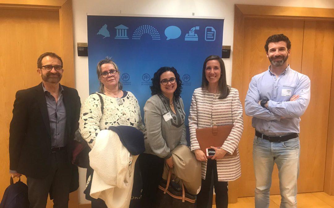 Nueva reunión en la Asamblea de Madrid